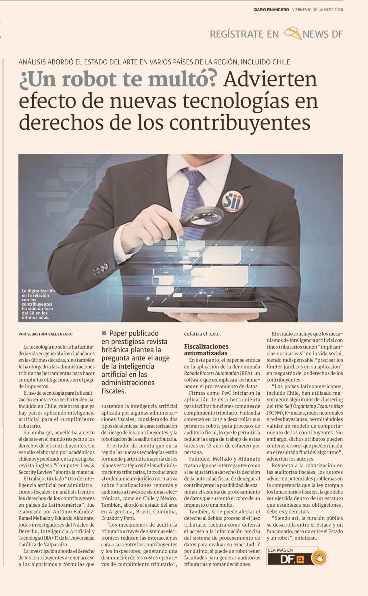 Nota Diario Financiero - 10 de julio del 2020